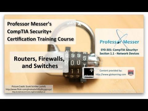 Routers, Firewalls, And Switches - CompTIA Security+ SY0-301: 1.1