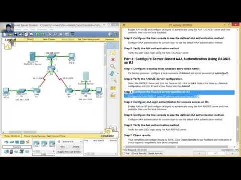 3.6.1.2 Packet Tracer - Configure AAA Authentication On Cisco Routers