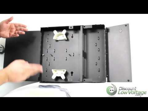 Wall Mount Fiber Optic Cable 2 Panel Enclosure By Hellermann Tyton