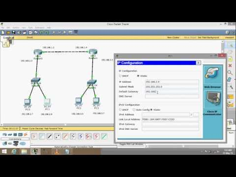 Cisco Packet Tracer Basic Networking - Static Routing Using 2 Routers