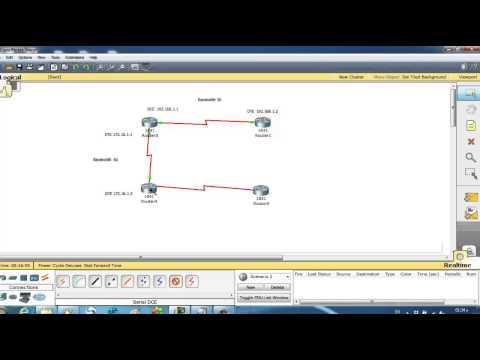 Cisco Packet Tracer 09 Connect Four Routers As DCE And DTE