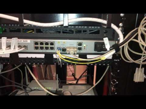 Network Rack With Routers, Switches And Patch Panels