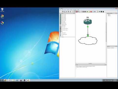GNS3 Tutorial - Connecting GNS3 Routers To The Internet In Windows 7