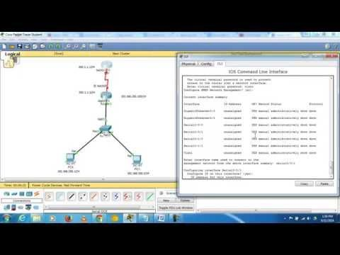 How To Connect 2 Routers, 1 Switch, 2PC's In CISCO Packet Tracer